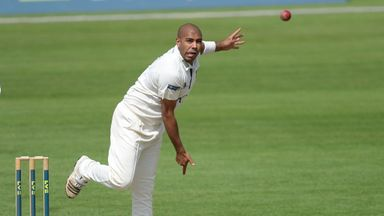 Jeetan Patel: runs and wicket for Warwickshire spinner on day three
