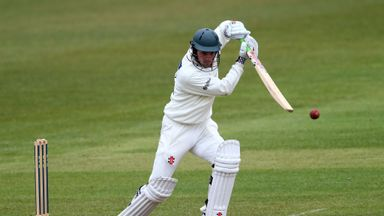 Ned Eckersley: Leicestershire batsman closed day three in sight of second century of match