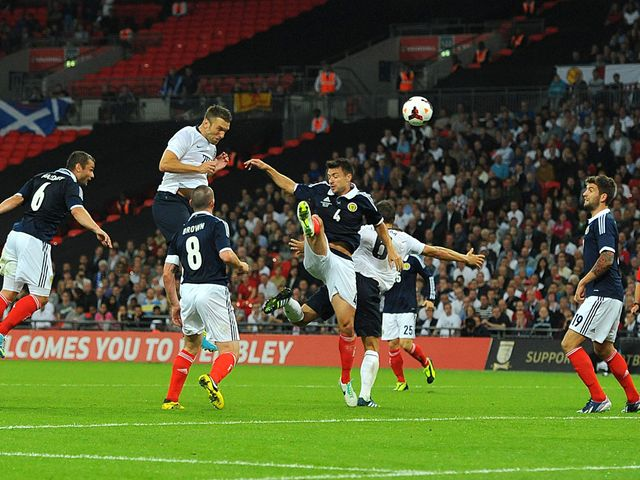 Rickie Lambert scored the winning goal on his England debut