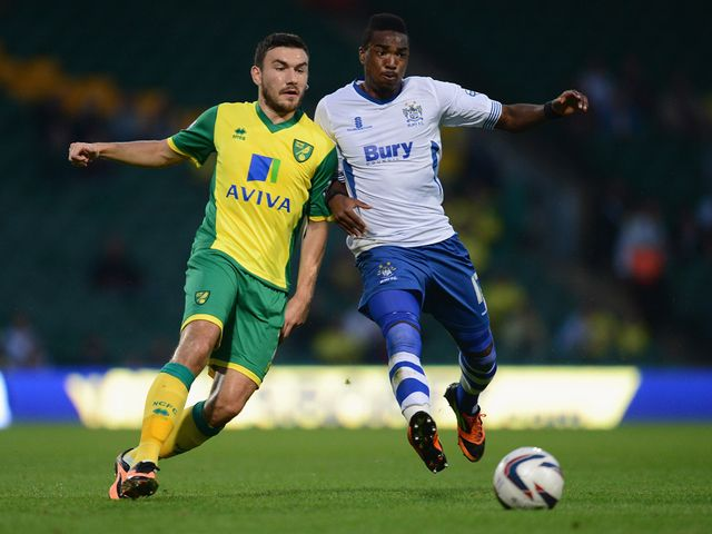 Robert Snodgrass holds off Marlon Jackson