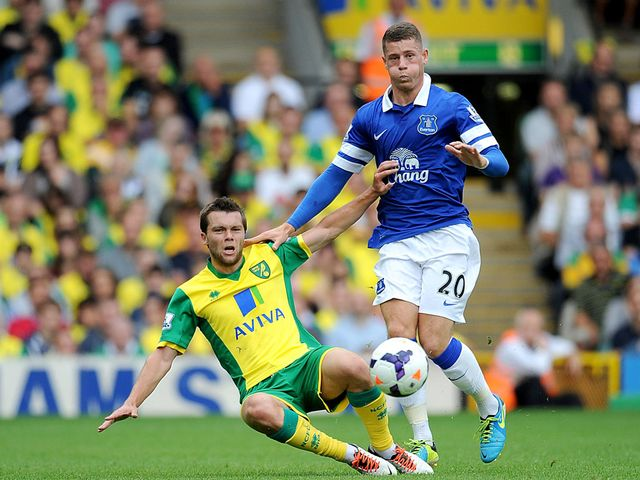 Jonathan Howson tackles Ross Barkley