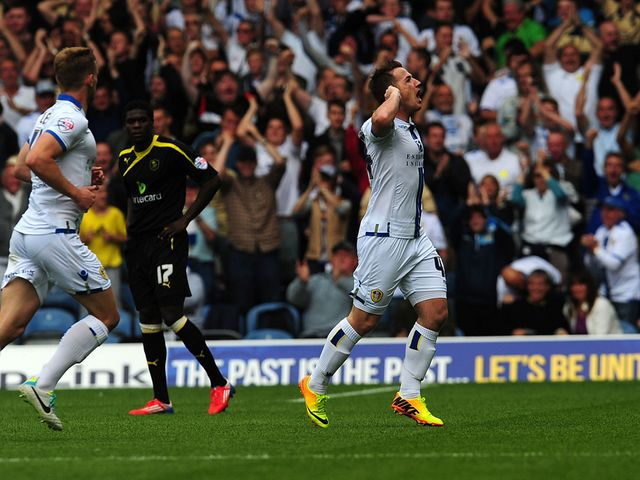 Ross McCormack celebrates for Leeds
