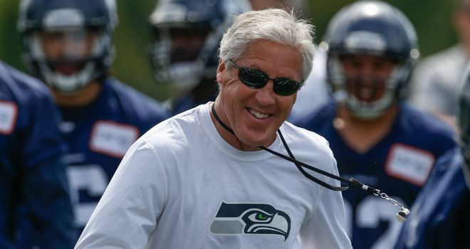 Pete Carroll: Hoping his team can make the most of home advantage to reach the Super Bowl