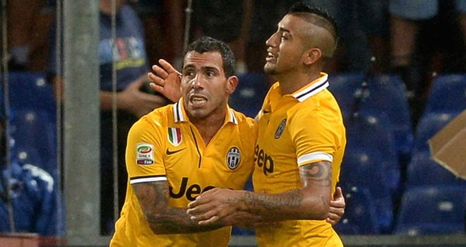 Tevez gets off the mark for Juventus