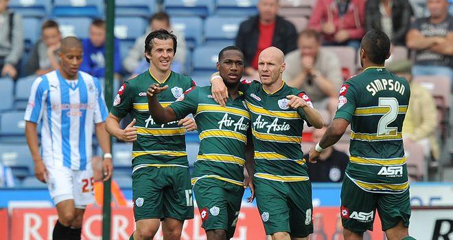 Junior Hoilett: Celebrates his goal for QPR