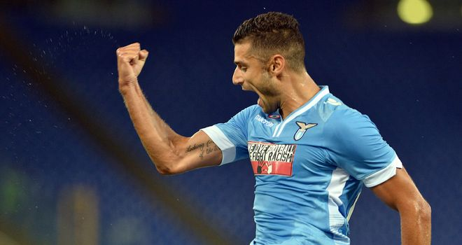 Antonio Candreva celebrates