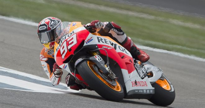 Marc Marquez set the pace at Misano on Friday