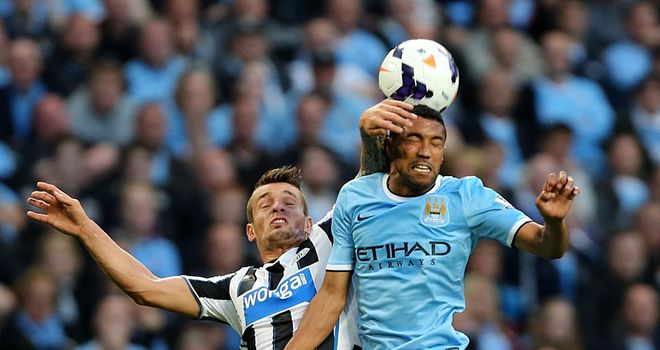 Manchester City were head and shoulders above Newcastle at the Etihad Stadium