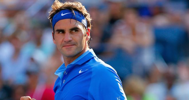 Roger Federer: Eased past Slovenia's Grega Zemlja in straight sets