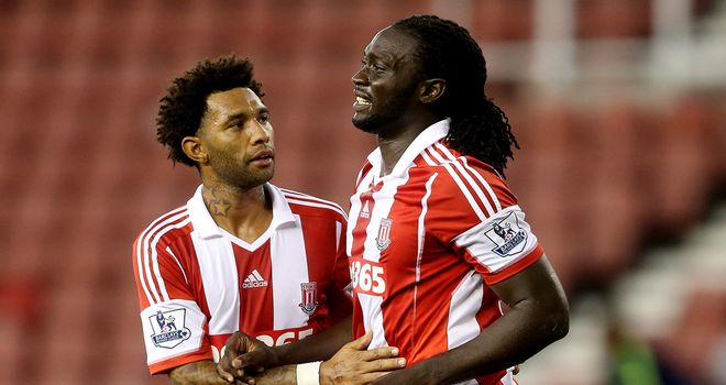 Kenwyne Jones: Stoke striker grabbed a hat-trick in win over Walsall