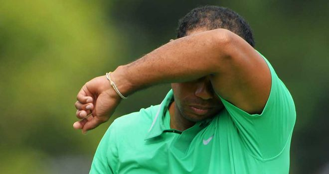 Tiger Woods: 10 shots off the lead at Oak Hill