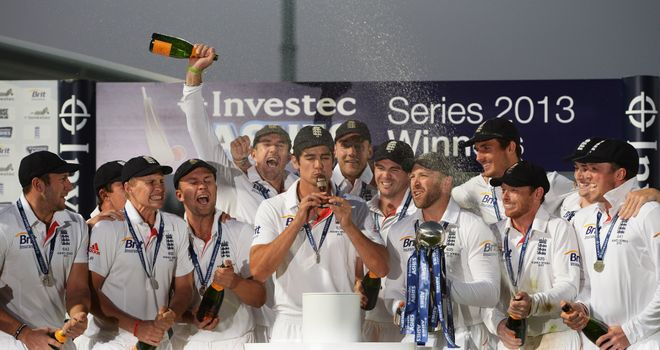 Mission complete: England celebrate Ashes success