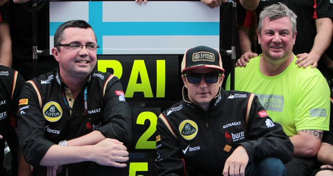 "Eric Boullier : Says Kimi Raikkonen ""loves"" being at Lotus"
