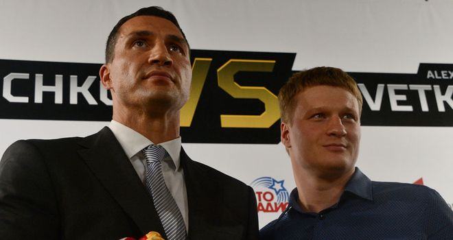 Wladimir Klitschko and Alexander Povetkin come face to face at Monday's press conference