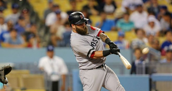 Mike Napoli: Hit a home run for the Boston Red Sox
