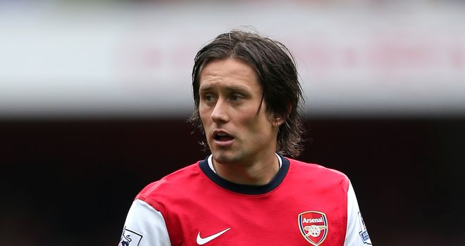 Tomas Rosicky: The veteran midfielder is enjoying being fully fit and in good form