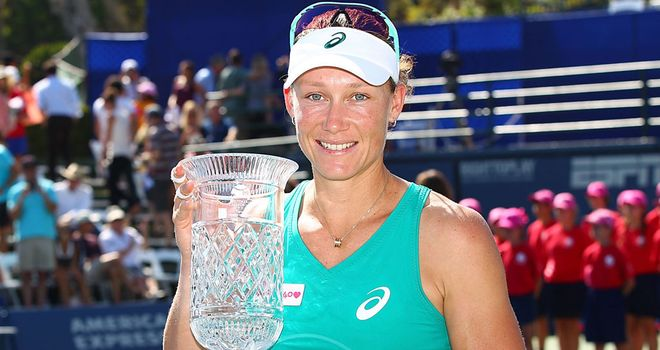 Sam Stosur: Finally got the better of Victoria Azarenka after eight successive defeats