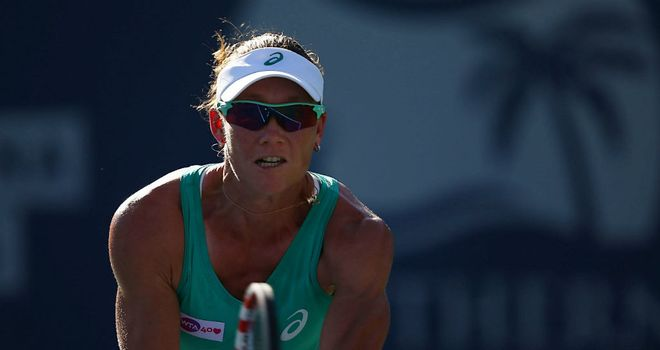Sam Stosur: Will face Virginie Razzano in the semi-finals in Carlsbad