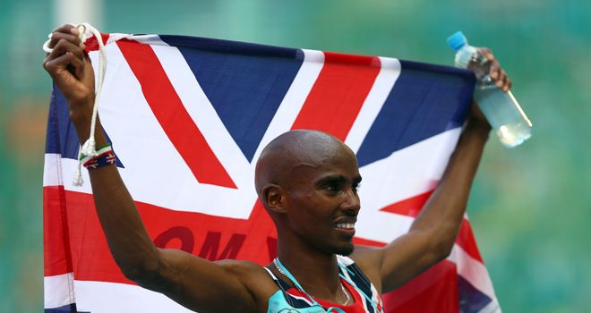 Mo Farah: reversed the finishing positions of two years ago