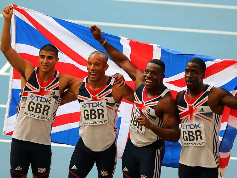 The GB 4x100m team finished third, but were demoted