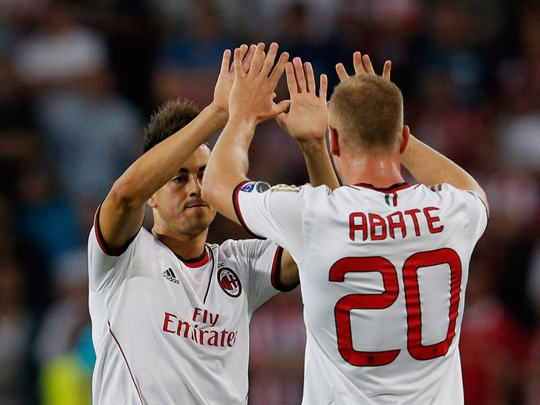 AC Milan earned a 1-1 draw away at PSV