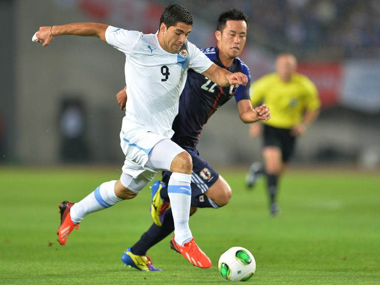 Luis Suarez in action for Japan on Wednesday.