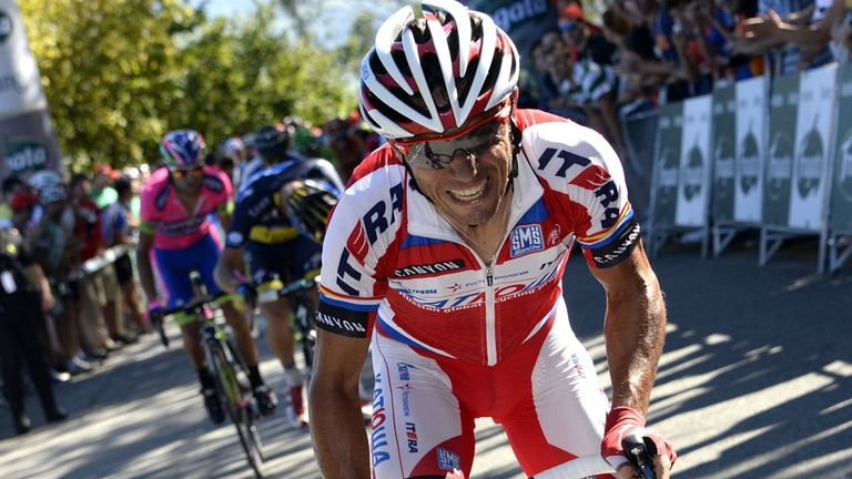 Joaquim Rodriguez launched his winning attack 1km out