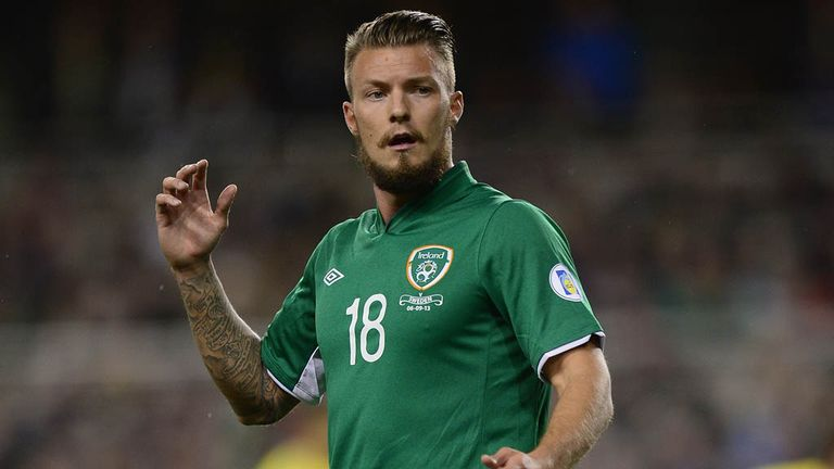 Anthony Pilkington: First start for the Republic of Ireland