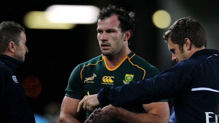 Du Plessis: Sent off after just 42 minutes in Auckland