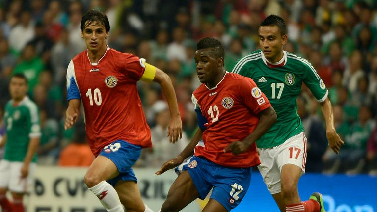 Joel Campbell: In action for Costa Rica