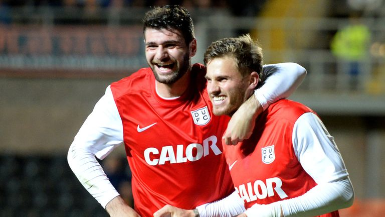 David Goodwillie (r): Scored a hat-trick in cup victory