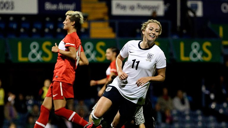 Toni Duggan: Scored England's second goal against Wales