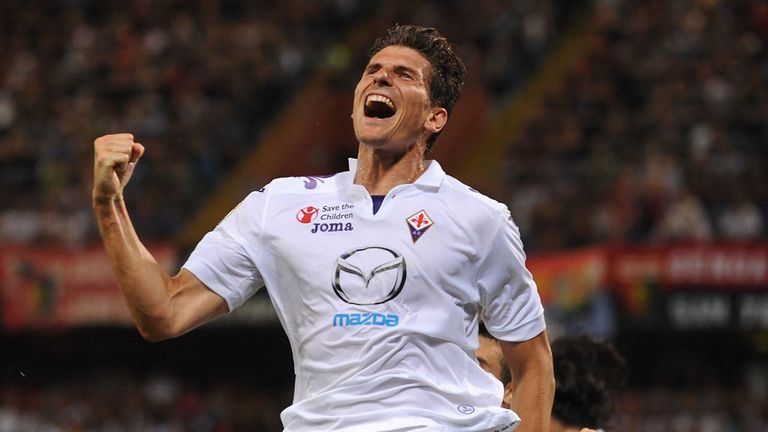 Mario Gomez: Grabbed the vital equaliser for Fiorentina