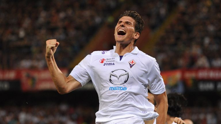 Mario Gomez: The striker says that Real Madrid were keen on signing him prior to joining Fiorentina