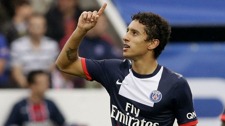 Marquinhos: Celebrates goal in PSG's win over Toulouse