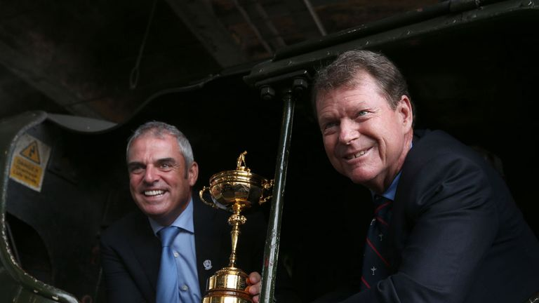 Ryder Cup captains Paul McGinley (left) and Tom Watson