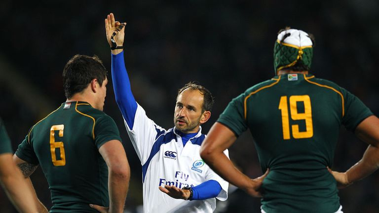 Romain Poite: Blew in favour of the All Blacks