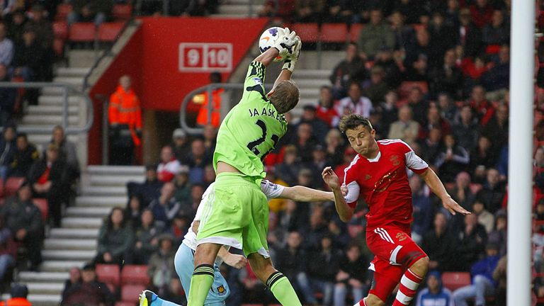 Jussi Jaaskelainen: Pulled off several fine saves at St Mary's