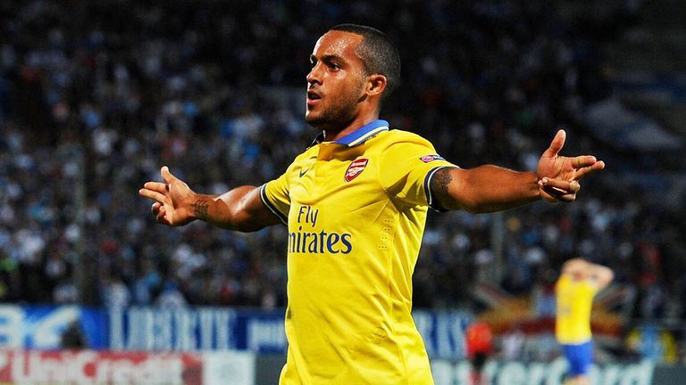 Theo Walcott had to sit out Sunday's defeat of Stoke