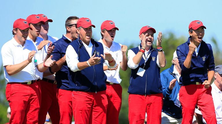Captain Jim Holtgrieve and his US team had plenty to cheer in the afternoon.