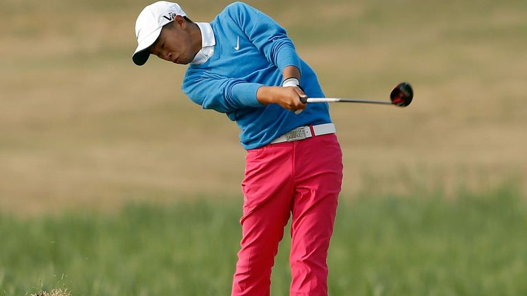 Ye Wo-cheng competing in the Volvo China Open as a 12-year-old
