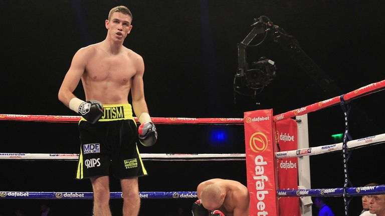 Callum Smith: His last five wins have come in the first round (Pic Lawrence Lustig)