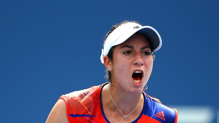 Christina McHale ousted eighth seed Caroline Garcia