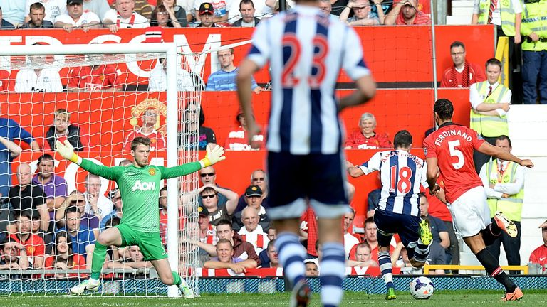 Morgan Amalfitano: Scored West Brom's first goal of the game against Manchester United