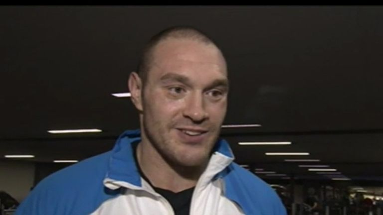 Tyson Fury: Training hard for his fight with David Haye