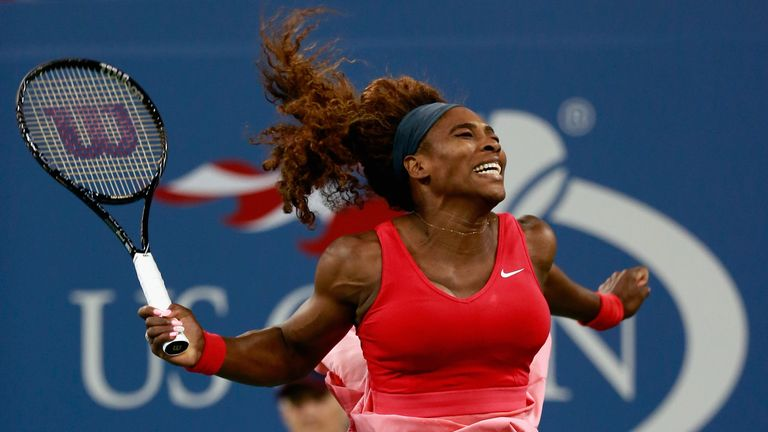 Serena Williams: Celebrates winning her 17th grand slam title
