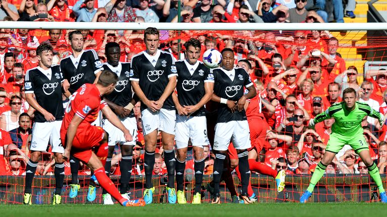 Blocked: Southampton one of the few teams to shutout Liverpool this season