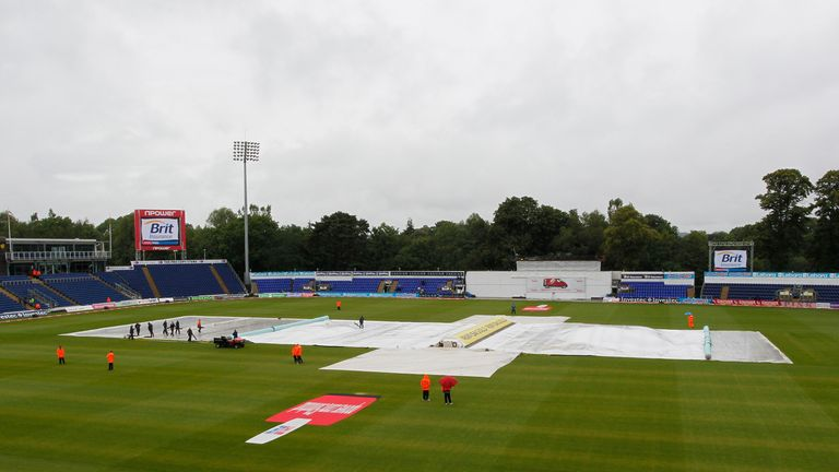 Day three at the SWALEC Stadium was a complete washout