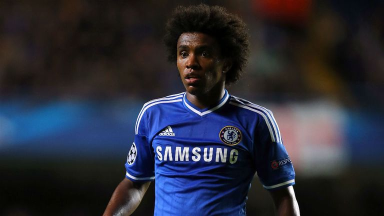Willian: Chelsea's Brazilian forward has been capped twice by his country