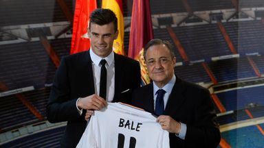Florentino Perez (r): Real Madrid president claims Manchester United made a bid for Bale